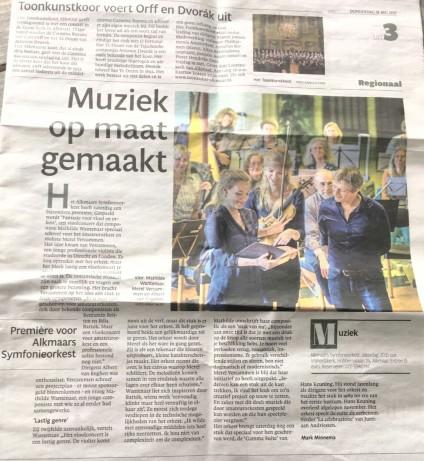 Alkmaarse Courant Merel Vercammen Mathilde Wantenaar