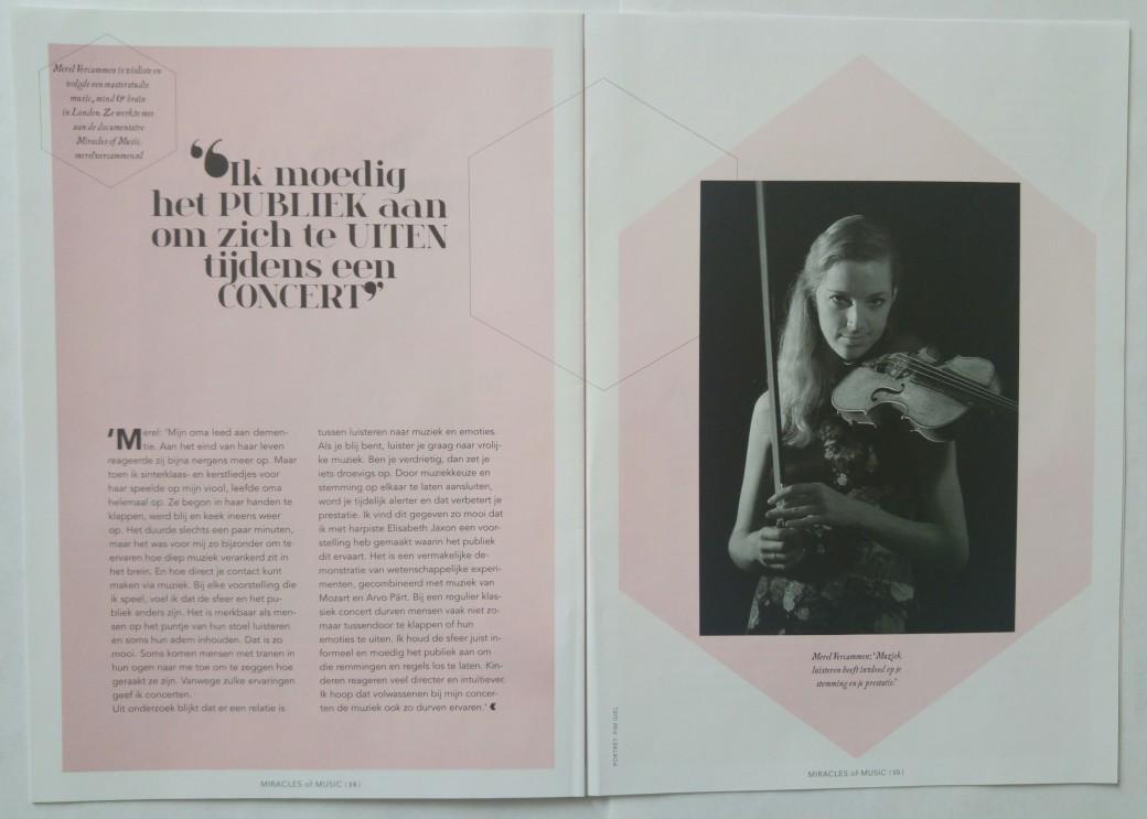 Merel Vercammen violiste viool psychologie magazine
